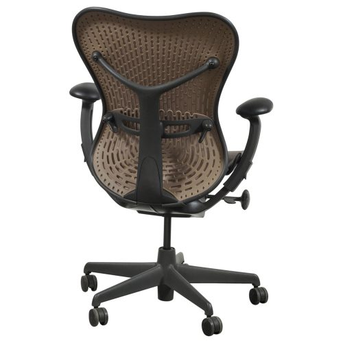 Herman Miller Mirra Used Mesh Task Chair Cappuccino Back View