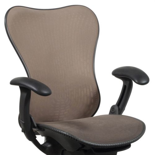 Herman Miller Mirra Used Mesh Task Chair Cappuccino Closeup Front View