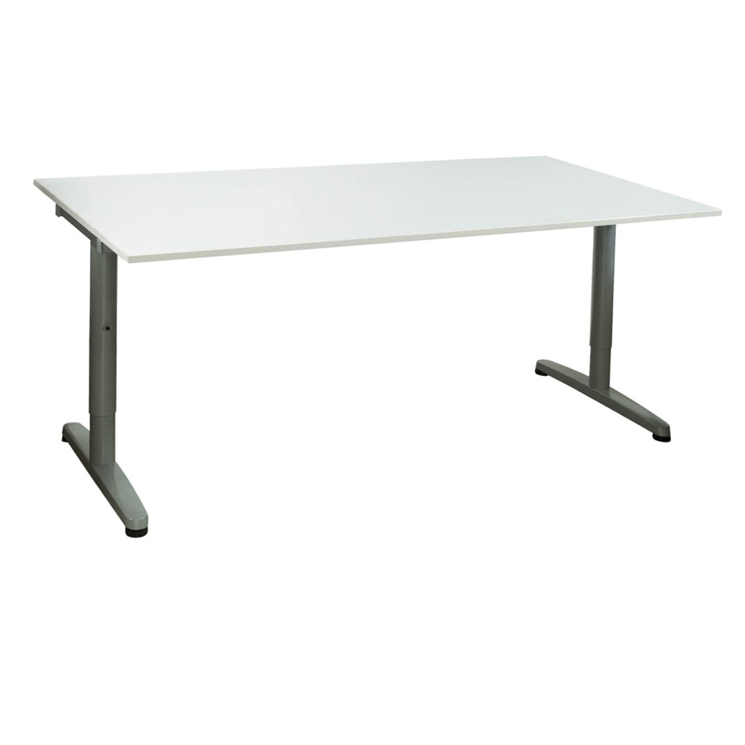 ikea galant used 32 63 adjustable height laminate table white national office interiors and. Black Bedroom Furniture Sets. Home Design Ideas