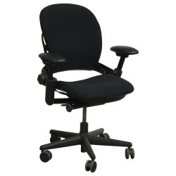 Steelcase Leap V1 Used Task Chair Black Front View