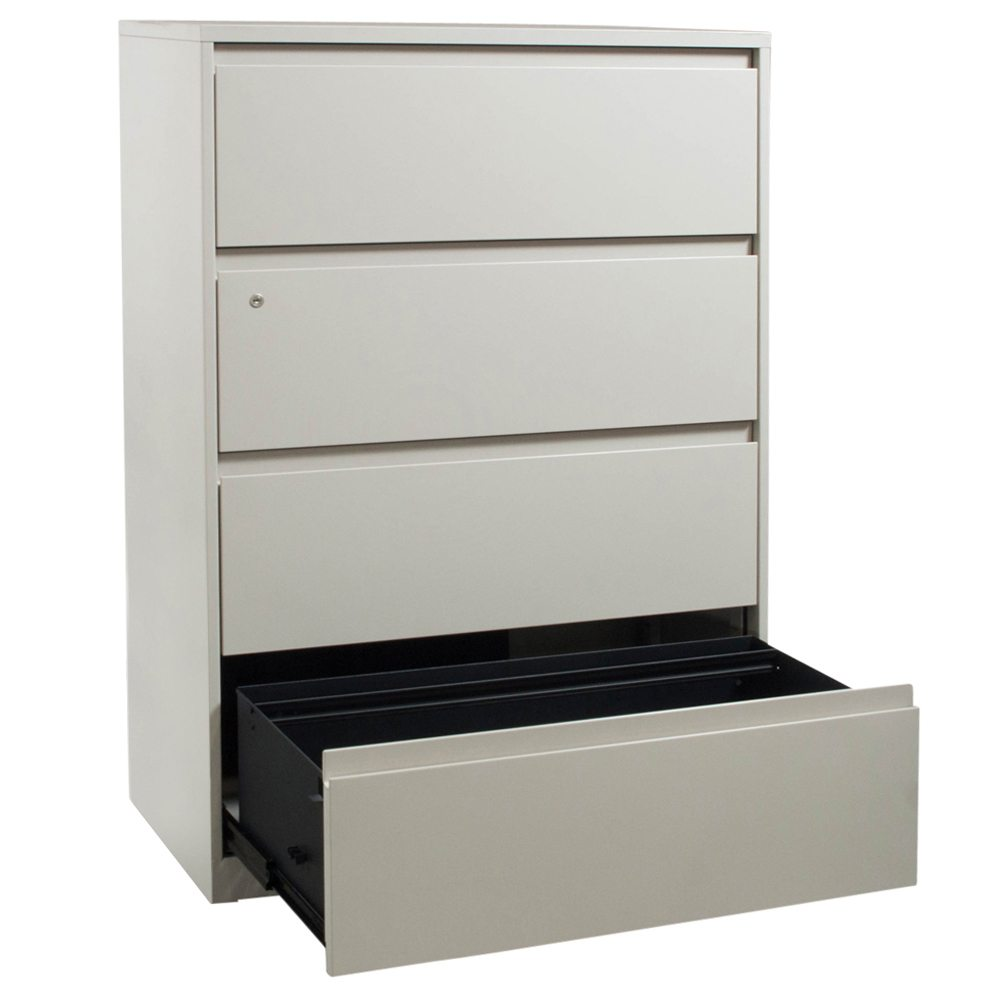 steelcase used 4 drawer 36 inch lateral file  light putty