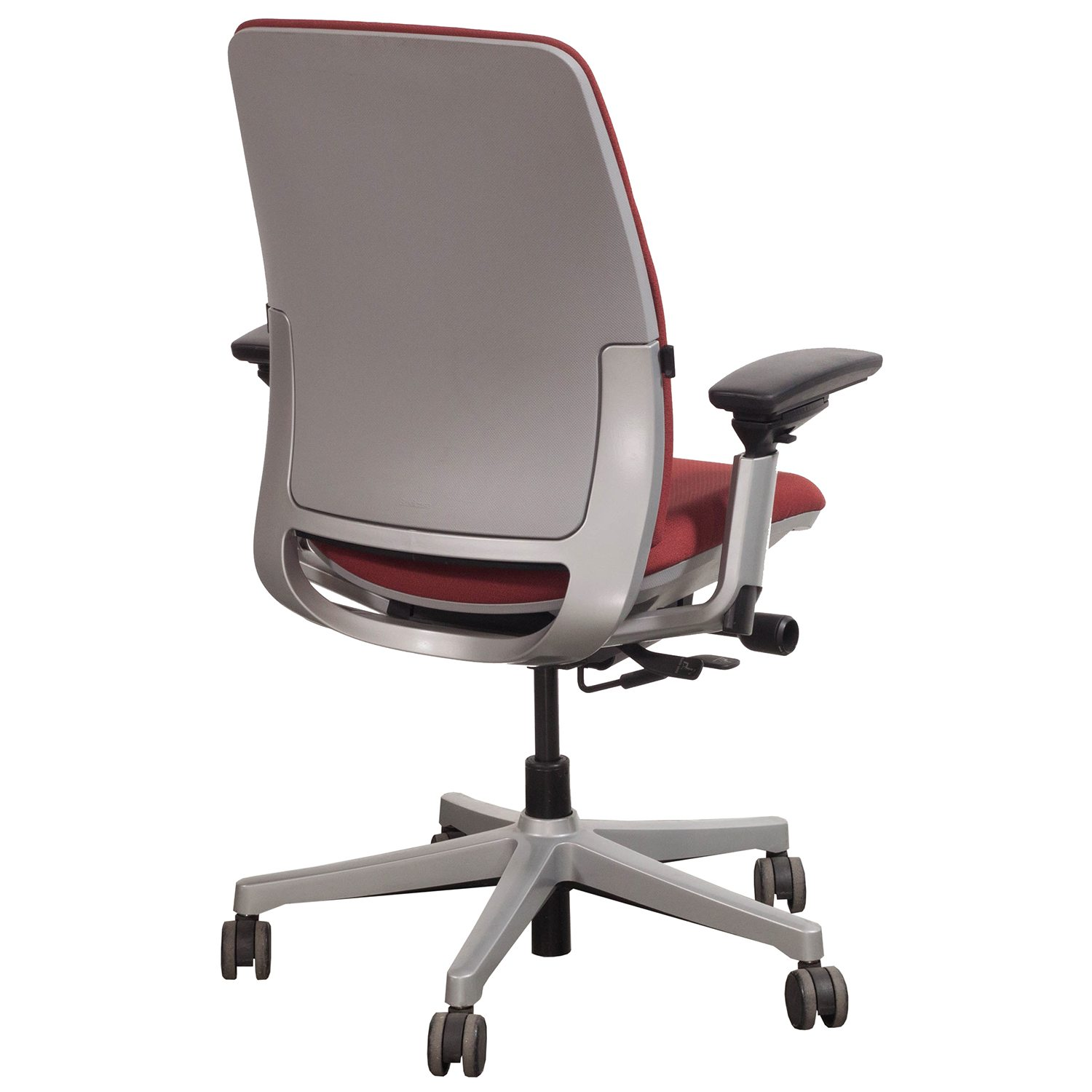 steelcase amia used task chair red national office interiors and