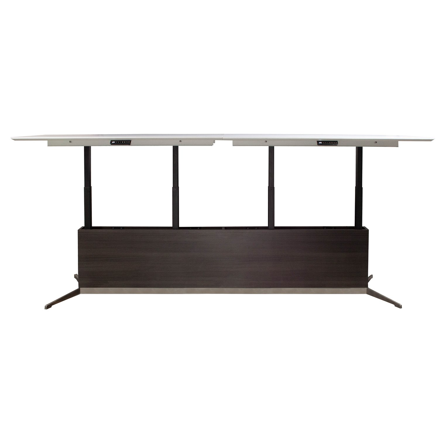 stoneline white conference tangent frosted glass modern boardroom with boat integrated and shape tables designs product table wiring