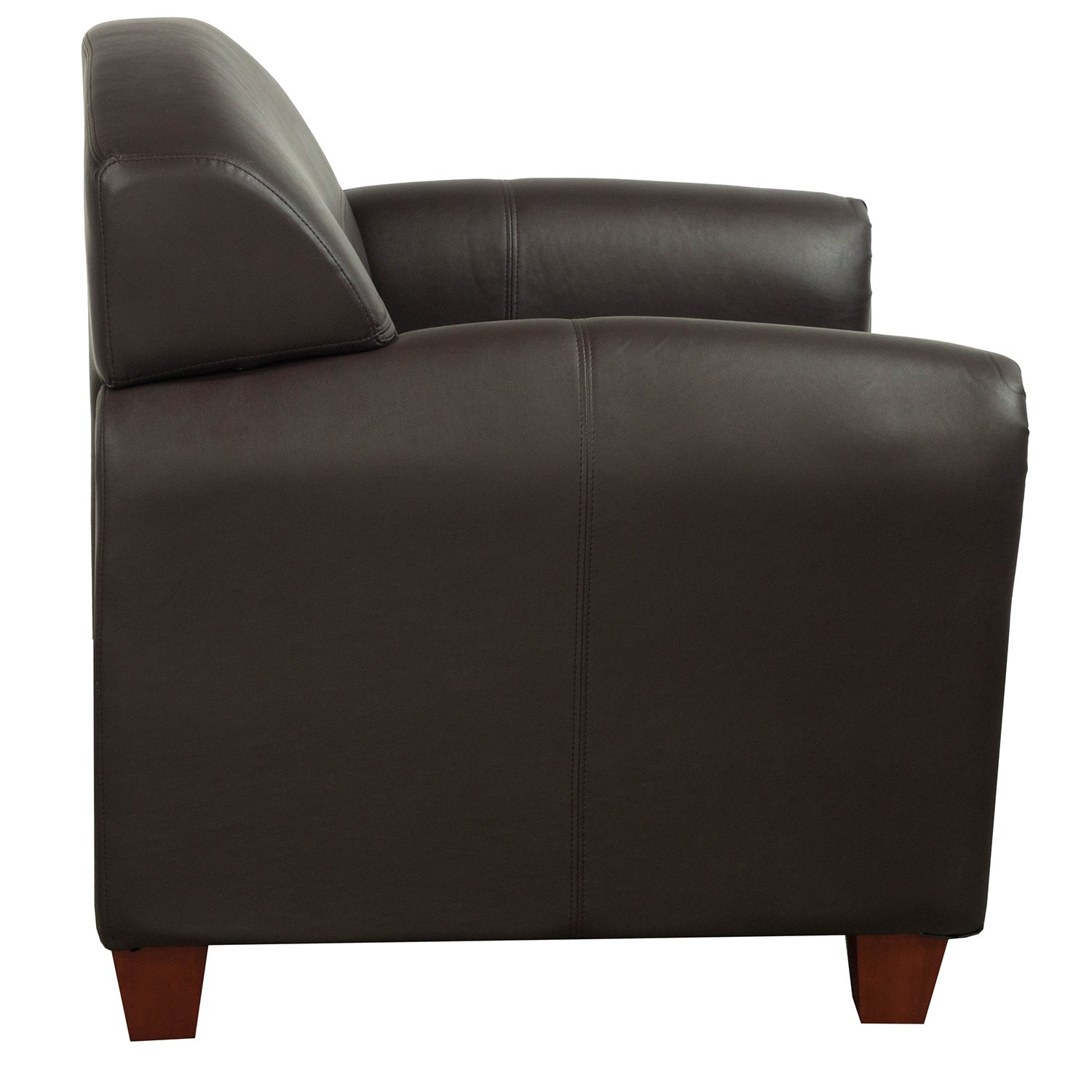Office Star Products Used Pu Leather Lounge Chair Brown