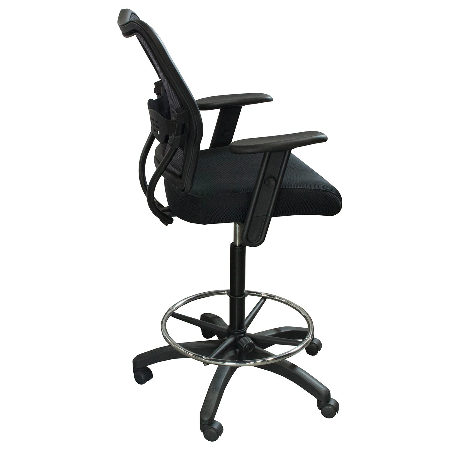 Office Star Space Used Mesh Stool W Arms Black