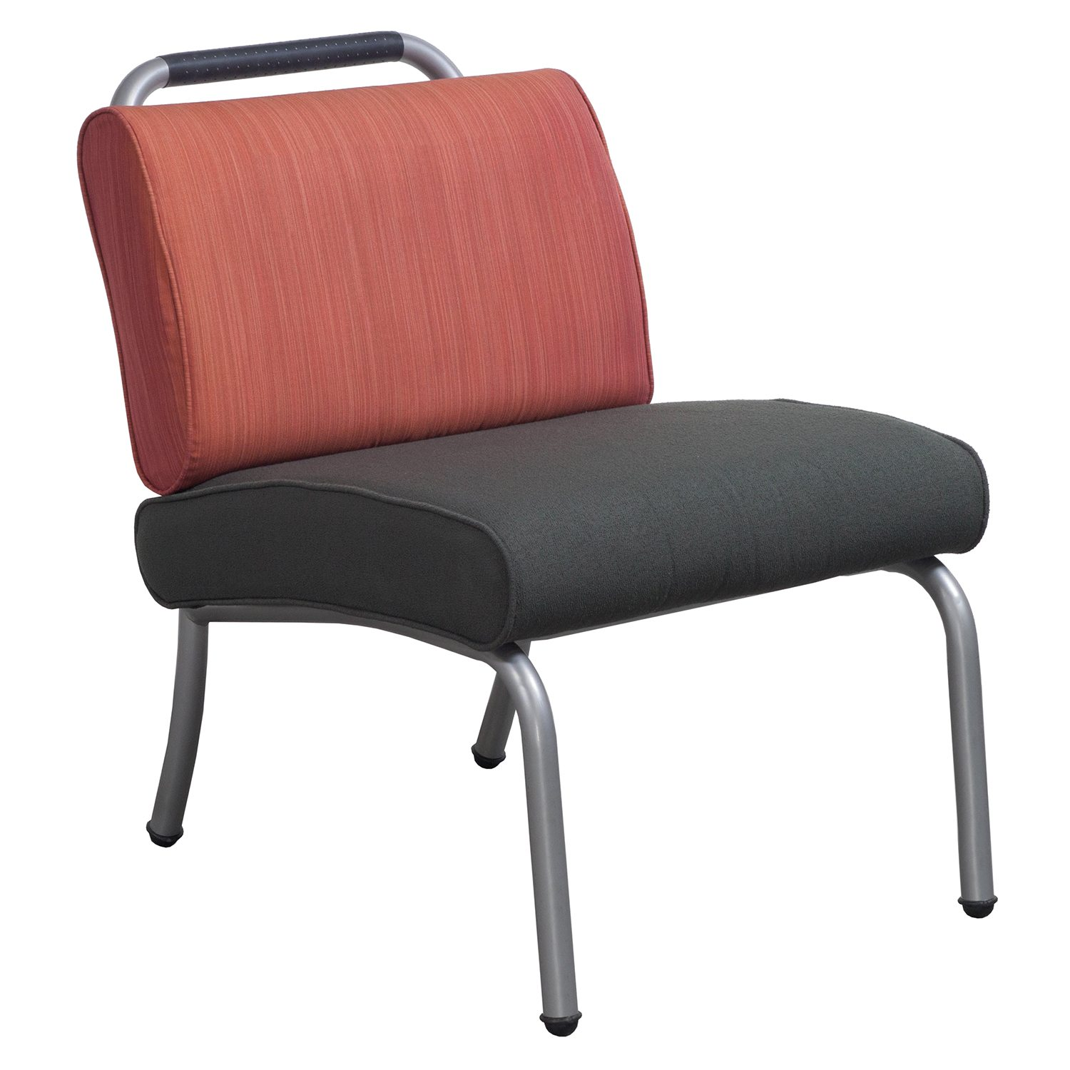 Steelcase Sweeper Used Lounge Chair, Rust/Charcoal