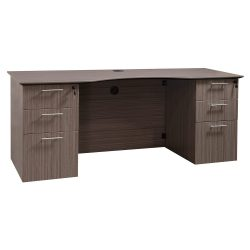 Catalina Laminate Curved Knee Space Credenza Drift