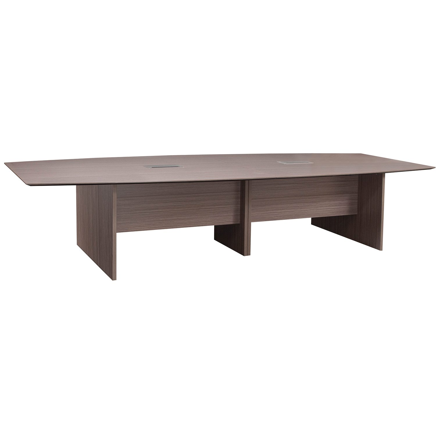 Catalina Laminate Ft Boat Shaped Conference Table W Grommet - 12 ft conference table