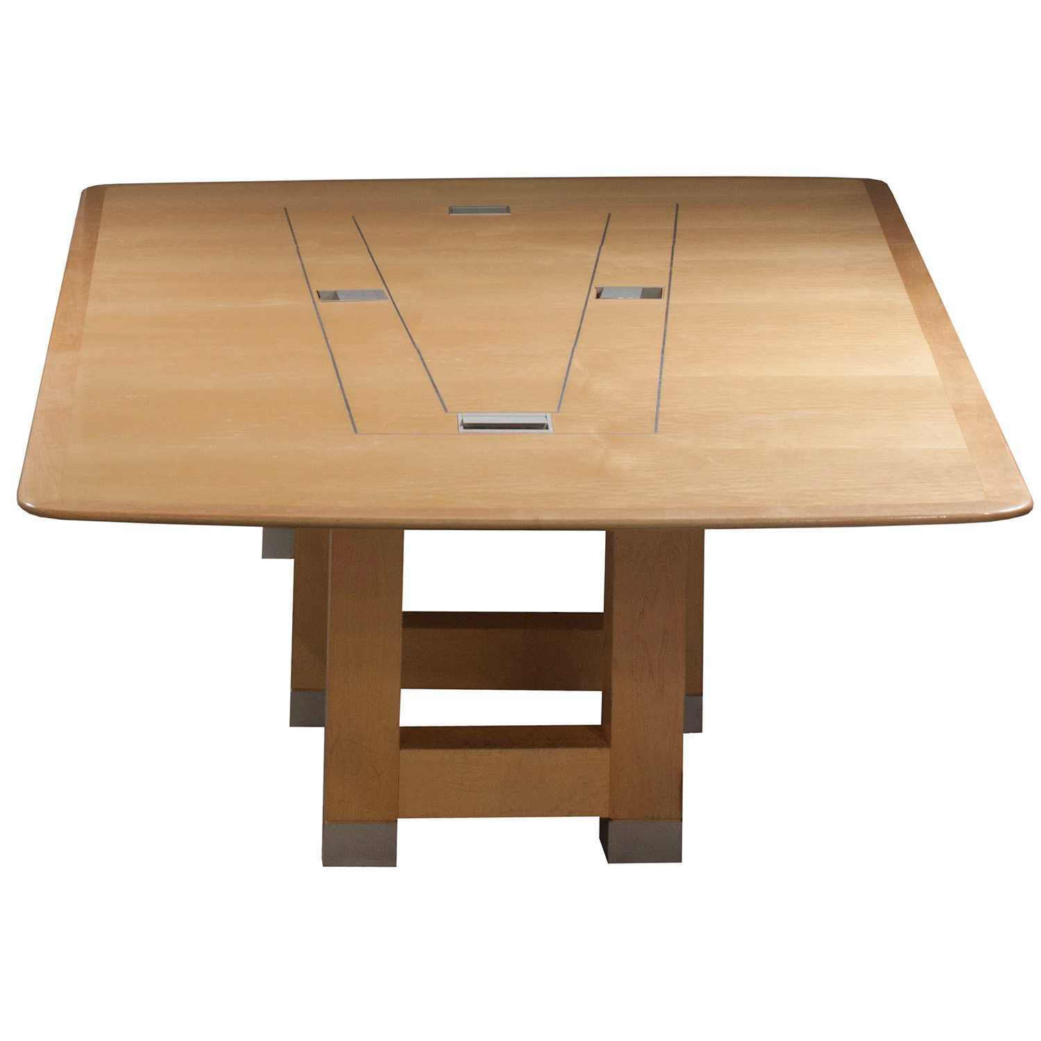 Foot Used Veneer Conference Table Maple National Office - 14 ft conference table