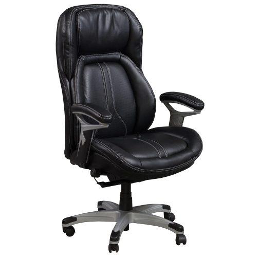 goSIT CS-2083E Black Leather Executive Task Chair