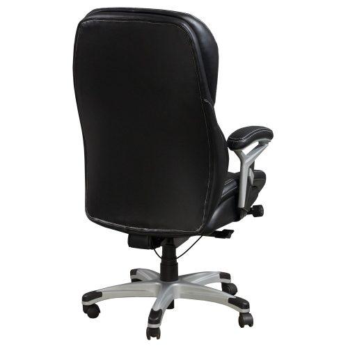goSIT CS-2083E Black Leather Executive Task Chair - Back