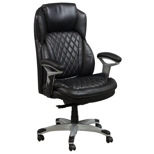 goSIT CS-2089E Black Leather Executive Chair