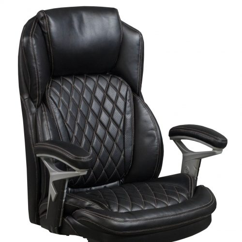 goSIT CS-2089E Black Leather Executive Chair - Arm