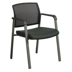 Skipper by goSIT Mesh Back Side Chair Black Front View