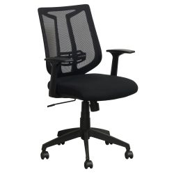 Liberty by goSIT Modern Mesh Chair Black Front View