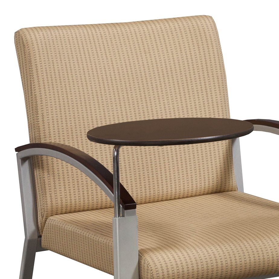 Arcadia Used Reception Wood Tablet Arm Chair Gold