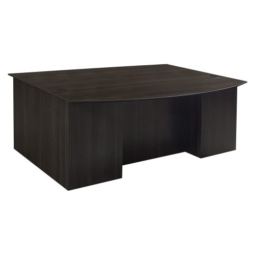 Catalina Double Pedestal Desk in Gray - Front