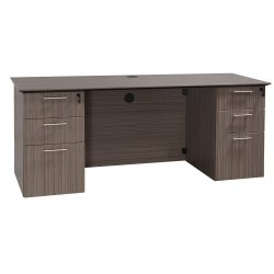 Catalina Laminate Straight Knee Space Credenza in Color Drift