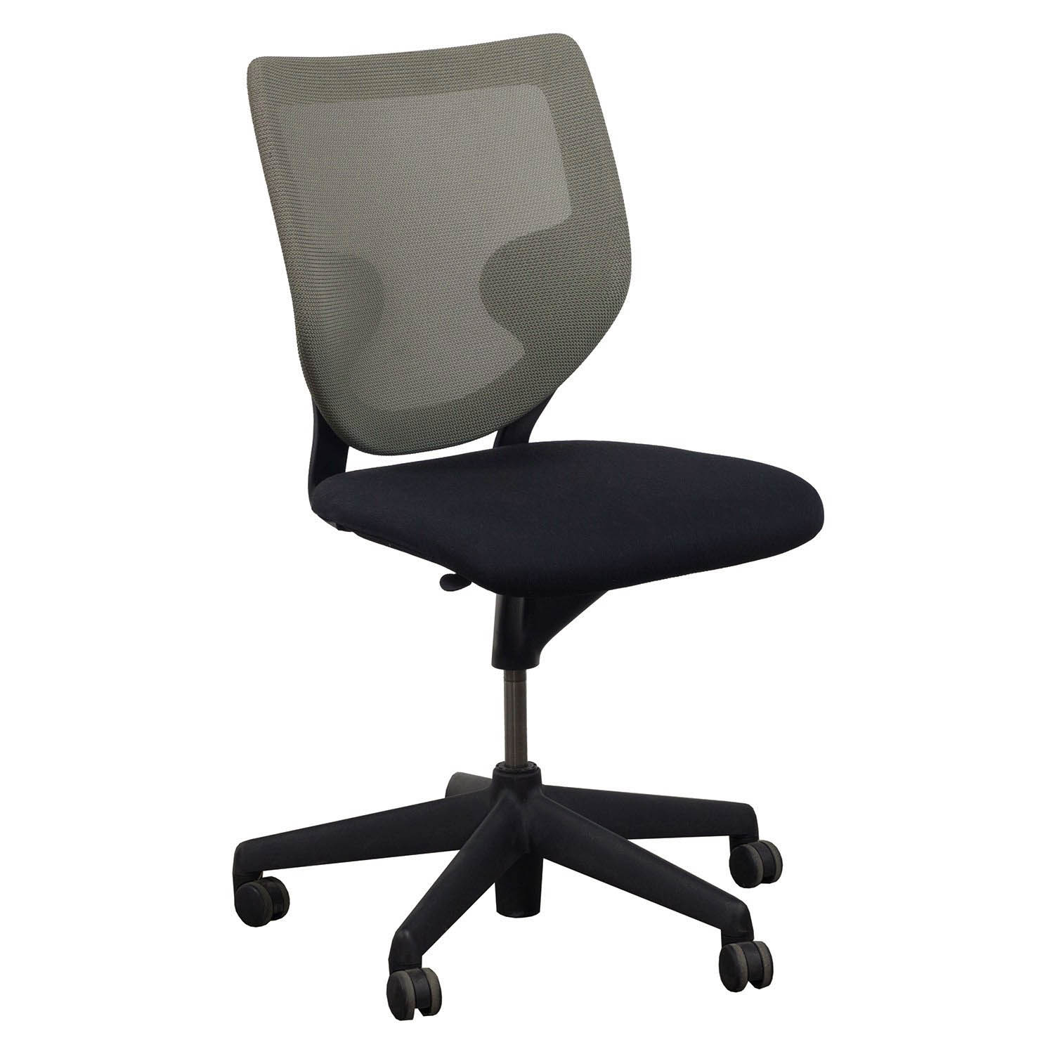 Keilhauer Simple Used Armless Tan Mesh Back Conference