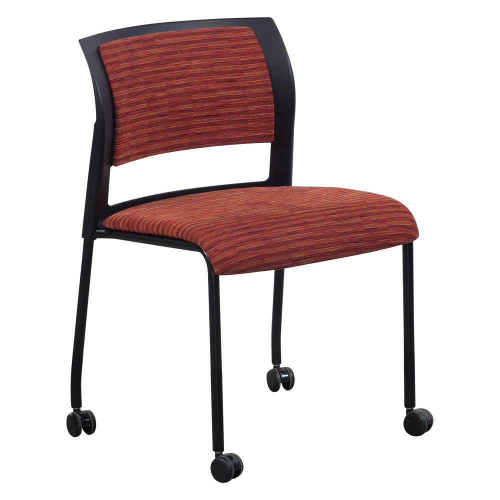 Steelcase Move Used Mobile Stack Chair ...  sc 1 st  National Office Interiors and Liquidators & Steelcase Move Used Mobile Stack Chair Red Line | National Office ...