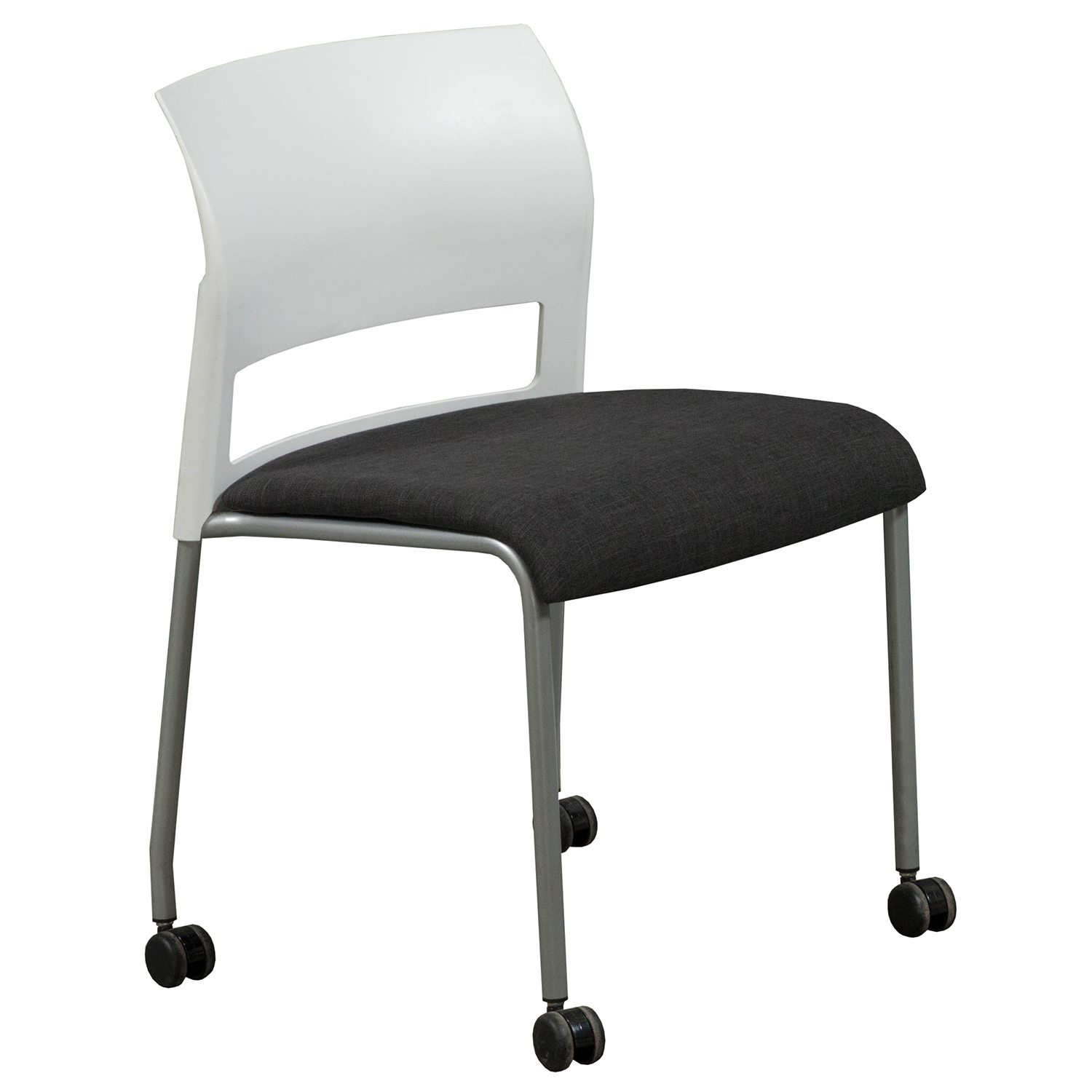 Steelcase Move Used Mobile Stack Chair Smoke National