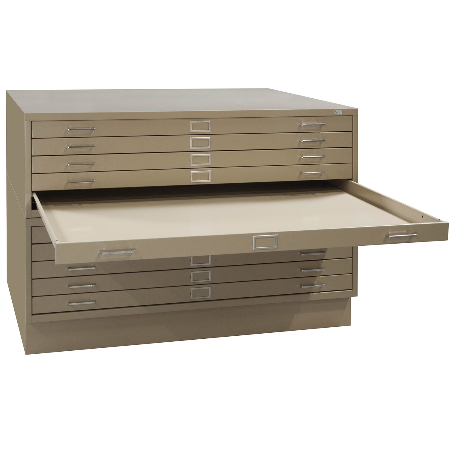 Safco 10 Drawer Flat File In Putty   Drawer