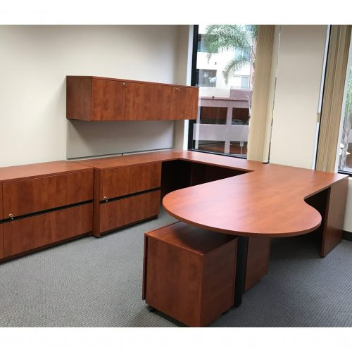 Steelcase Payback Left Return in Cherry