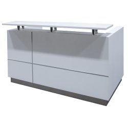 goSIT 63 Inch Reception Desk in Drift - Front