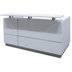 goSIT 79 Inch Modern Reception Unit in Drift - Front