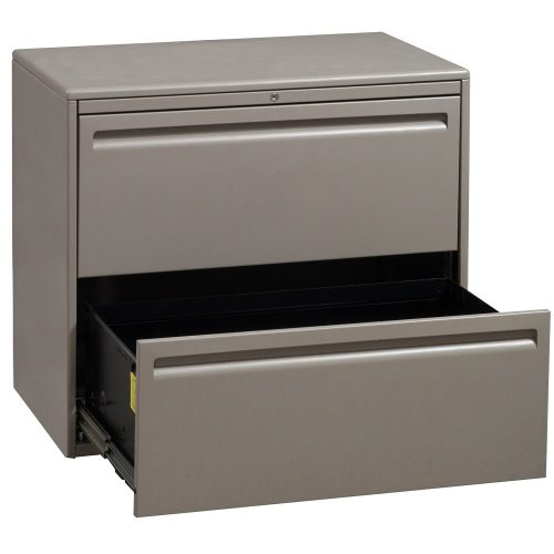 Haworth 2 Drawer 30 Inch Lateral File in Tan - Open Drawer
