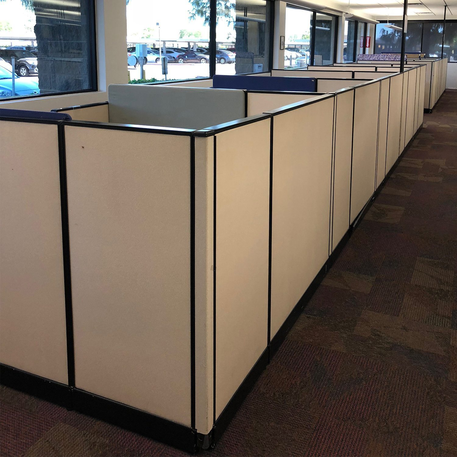 efile cabinet 6 215 6 used cubicles by haworth creme sold in pods 15138