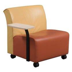Steelcase Jenny Orange and Yellow Mobile Lounge Chair - Front