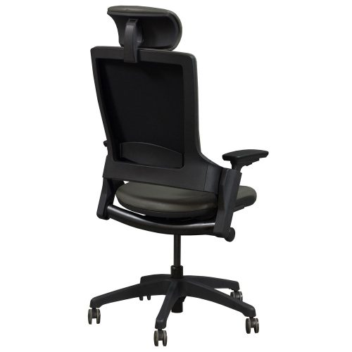 goSIT MELLET Gray Leather Executive Chair - Back