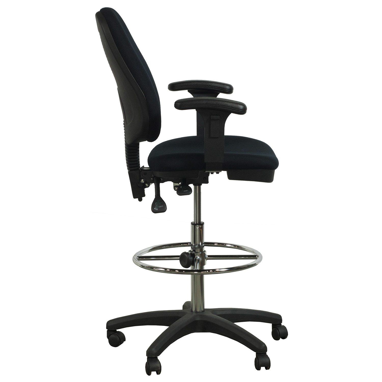 Flash Furniture Used Ergonomic Drafting Stool Black