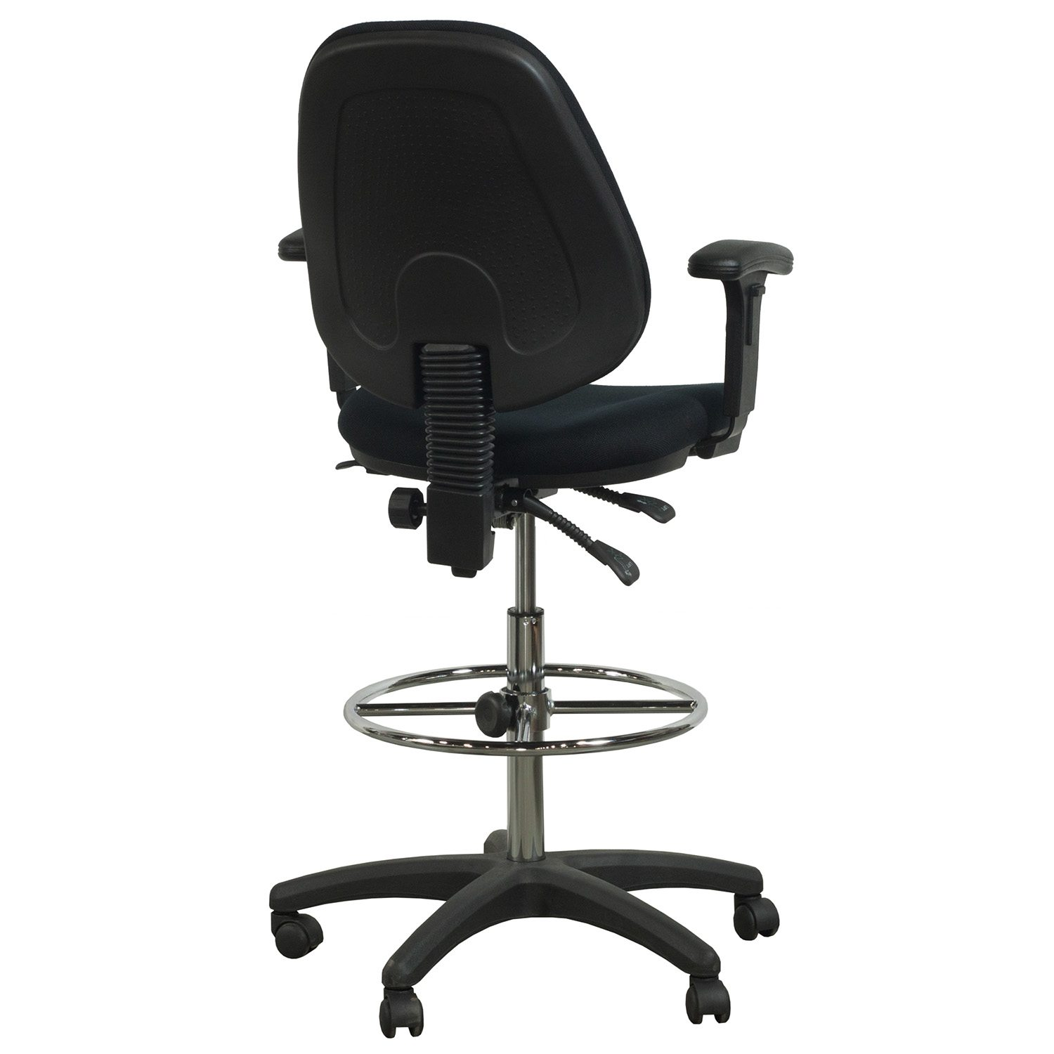 Flash Furniture Used Ergonomic Drafting Stool Black
