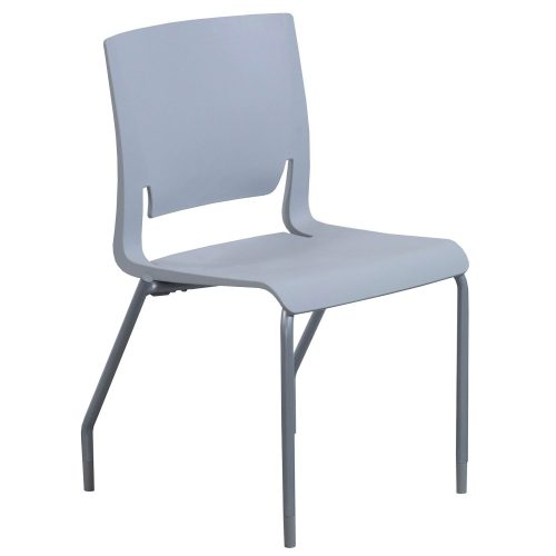 SitOnIt Rio Sterling Stack Chair - Front
