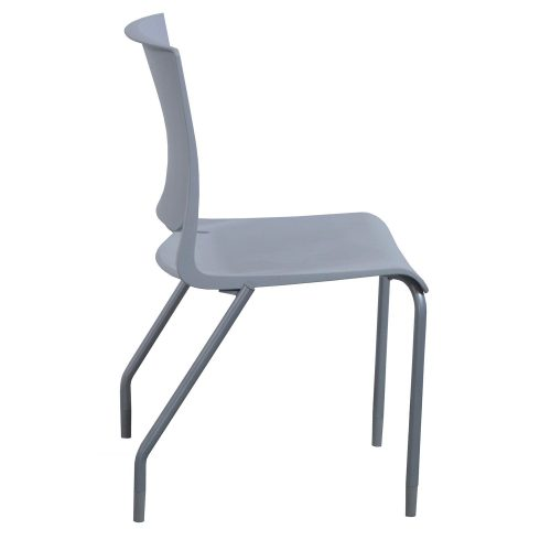 SitOnIt Rio Sterling Stack Chair - Side