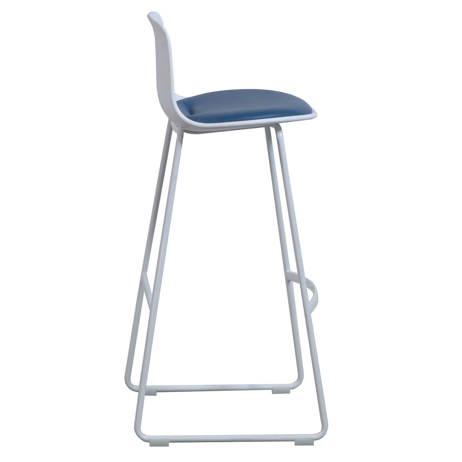 Steelcase Enea Lottus Used Leather Stool Blue National