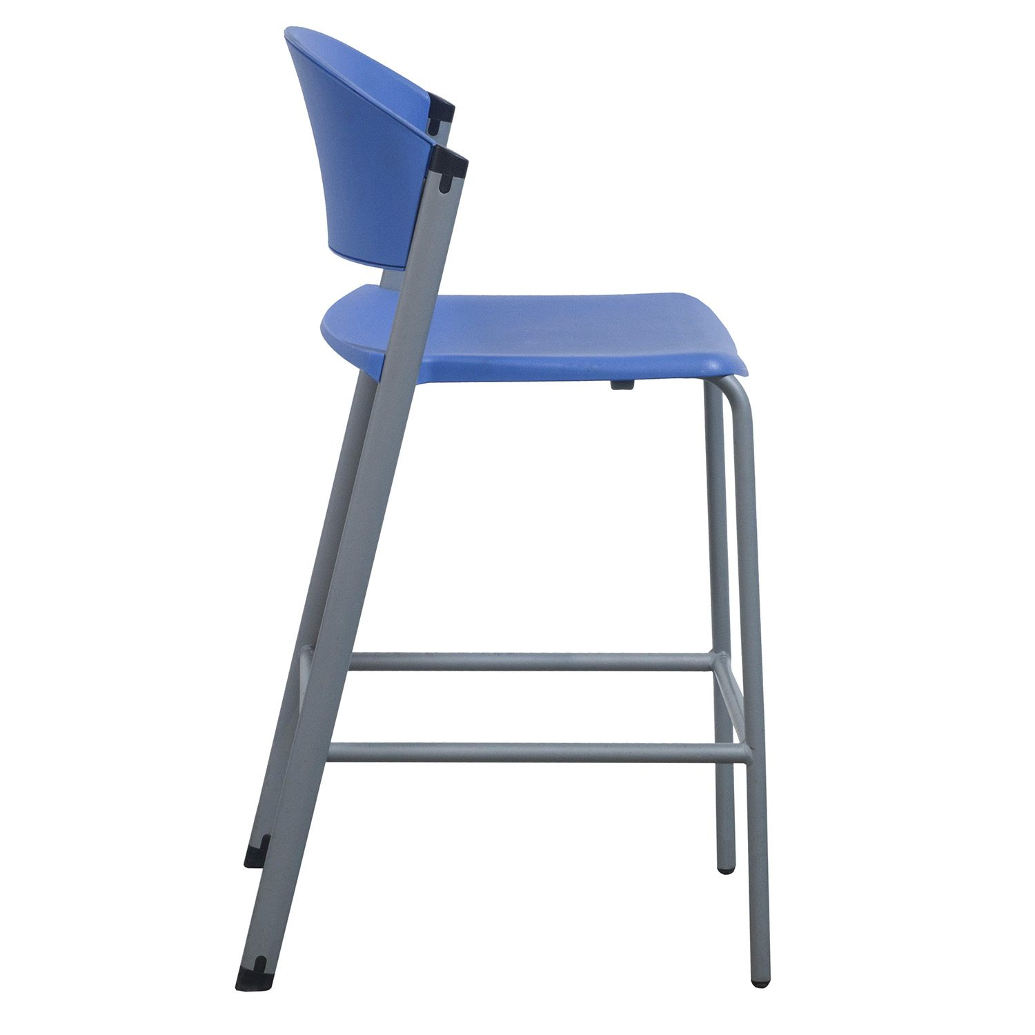 Teknion Zone Used Bar Height Stool Blue National Office