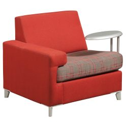 Tuohy Red Lounge Chair with Left Tablet - Front
