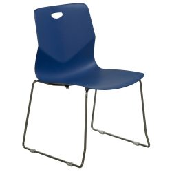goSIT Peak Stack Chair in Blue Front View