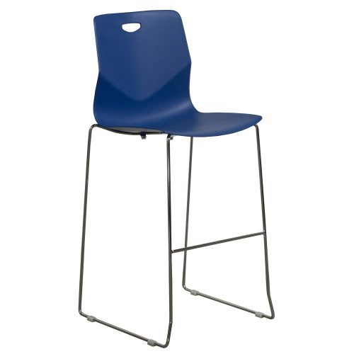 goSIT Peak Stackable Stool in Blue - Front