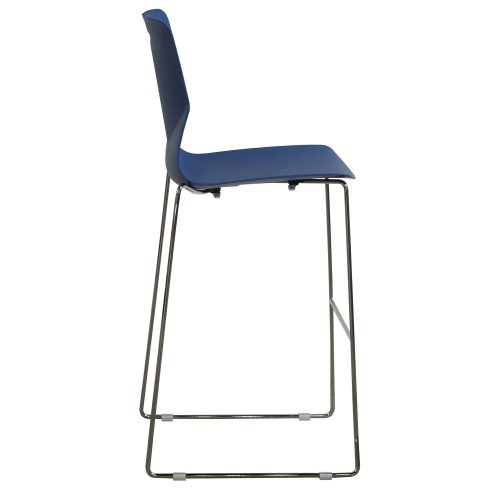 goSIT Peak Stackable Stool in Blue - Side