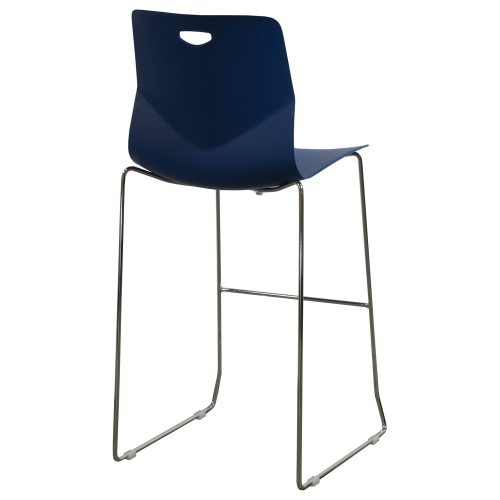 goSIT Peak Stackable Stool in Blue - Back