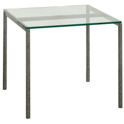 24x24 Glass End Table