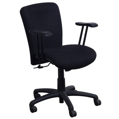 Eckadams Black Pattern Conference Chair - Front