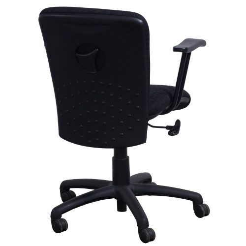 Eckadams Black Pattern Conference Chair - Back