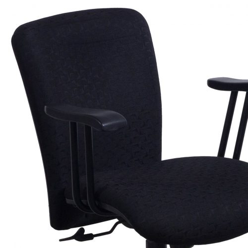 Eckadams Black Pattern Conference Chair - Arm