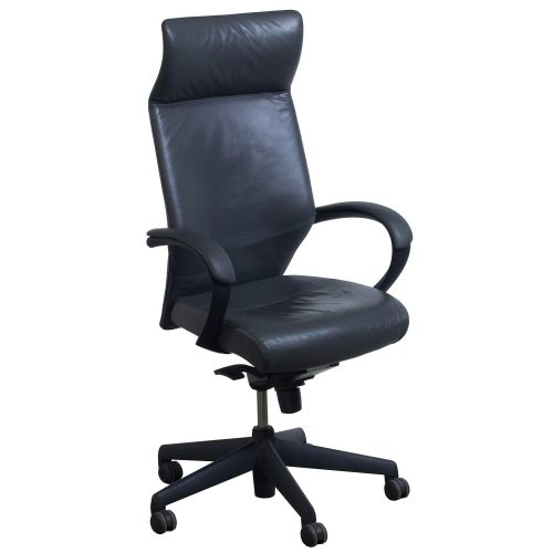 Keilhauer Tom High Back Executive Chair Gray - Front