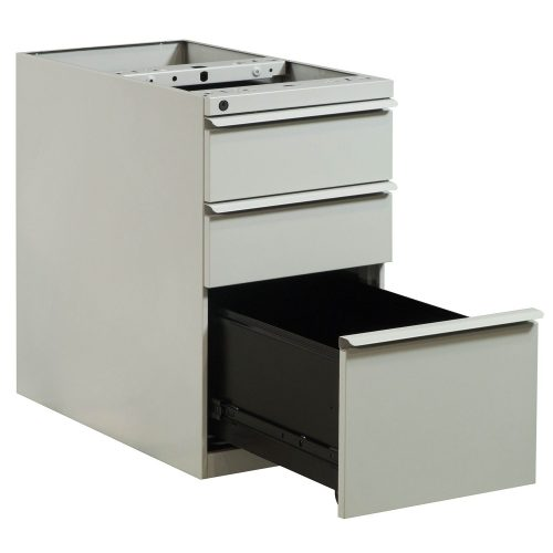 Knoll Box Box File Pedestal without Top in Putty - Open Drawer